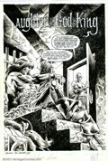Original Comic Art:Splash Pages, Gil Kane and Danny Bulanadi - Original Art for Savage Sword ofConan #85, page 7 (Marvel, 1983). Even in chains, Conan the B...