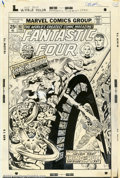 Original Comic Art:Covers, Jack Kirby and Joe Sinnott - Original Cover Art for Fantastic Four#167 (stat) (Marvel, 1976). This is the actual production...