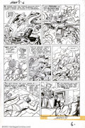 Original Comic Art:Panel Pages, Jack Kirby and Dick Ayers - Original Art for Incredible Hulk #5,page 6.(Marvel, 1962). This gigantic twice-up page has to b...