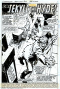 "Original Comic Art:Complete Story, Win Mortimer - Original Art for Supernatural Thrillers #4 ""Dr.Jekyll and Mr. Hyde"" - Complete 20-page story (Marvel, 1973)...."