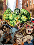 Original Comic Art:Covers, Earl Norem - Original Painted Cover for The Hulk magazine #16 (Marvel, 1979). Riding high on the popularity of the Hulk TV s...