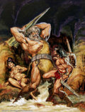 Original Comic Art:Covers, Earl Norem - Original Cover Art for Savage Sword of Conan #28 (Marvel, 1976). Earl Norem produced dozens of original cover p...
