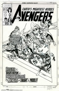 Original Comic Art:Covers, George Perez and Al Vey - Original Cover Art for Avengers #15(Marvel, 1999). George Perez's dynamic style is in full force ...