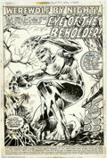 Original Comic Art:Splash Pages, Mike Ploog - Title Splash Page for Werewolf By Night #1 (Marvel,1972). When the Comics Code eased its restrictions in the e...