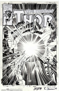 John Romita Jr. and Klaus Janson - Original Cover Art for Thor #9 (Marvel). This fantastic Thor cover was done by two of...