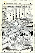 Original Comic Art:Covers, Herb Trimpe - Original Cover Art for The Incredible Hulk #165(Marvel, 1973). With #106, Herb Trimpe became the regular arti...
