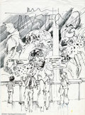 Original Comic Art:Covers, Neal Adams - Original Cover Rough for House of Mystery #254 (DC,1977). An interesting cover rough from the legendary Neal A...