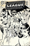 Original Comic Art:Covers, Neal Adams - Original Cover Art for Justice League of America #66(DC, 1968). This is one of Adams' earlier covers for DC, a...