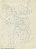 Original Comic Art:Covers, C.C. Beck - Original Cover Art preliminary for Whiz Comics #22(Fawcett, 1941). Here is a fantastic piece of work by one of ...