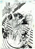 Original Comic Art:Covers, Jose Luis Garcia-Lopez - Original Cover Art to Wonder Woman #127(DC, 1997). This cover is a fantastic image that was pencil...