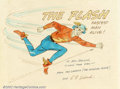 Original Comic Art:Sketches, E.E. Hibbard - Original Art Sketch of Flash (undated). Wonderful sketch of the Golden Age Flash, rendered by his long-time a...