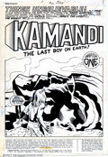 Original Comic Art:Splash Pages, Jack Kirby and D. Bruce Berry - Original Splash Page for Kamandi#31 (DC, 1975). Something terrible has happened to Ben Boxe...