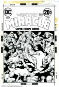 Original Comic Art:Covers, Jack Kirby - Original Cover Art for Mister Miracle #15 (DC, 1973).Considered by some to be Kirby's greatest creation, Miste...
