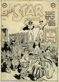 Original Comic Art:Covers, Arthur Peddy and Bernard Sachs - Original Cover Art for All StarComics #54 (DC, 1950). Although scarcely a household name, ...