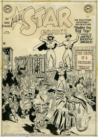 Arthur Peddy and Bernard Sachs - Original Cover Art for All Star Comics #54 (DC, 1950). Although scarcely a household na...