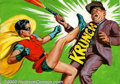Original Comic Art:Paintings, Norman Saunders - Original Art for Batman Trading Cards (Topps,...