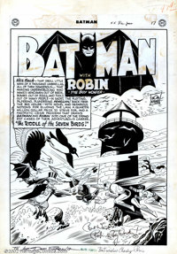 "Dick Sprang and Charles Paris - Original Art for Batman #56 Complete 13-Page Story ""The Riddle of the Seven Birds&q..."