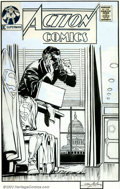 Original Comic Art:Covers, Curt Swan and Neal Adams - Original Cover Art for Action Comics #371 (DC, 1969). Curt Swan, the classic Superman artist, and...