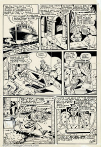 Matt Baker - Original Panel Page (Iger Shop, circa 1940s). The evil Ling Ti receives a special brand of justice in this...