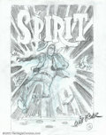 Original Comic Art:Covers, Will Eisner - Original Cover Art Preliminary for issue of TheSpirit (unknown date). Here is a neat cover preliminary sketc...