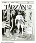 Original Comic Art:Covers, Jeff Jones - Tarzan at the Earth's Core, Cover and Complete 8-...