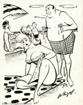 Original Comic Art:Splash Pages, Bill Wenzel - Original Cartoon Art (Humorama, Inc., undated). Thisgag cartoon is probably from the 1950s or 1960s (could it...