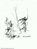 Original Comic Art:Sketches, Al Williamson - Original Art Sketch (undated). Here is a great Sword and Sorcery sketch by a master of illustration, Al Will...