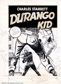 Original Comic Art:Covers, Unknown Artist - Original Cover Art for Durango Kid #14 (ME, 1951).Here is a fantastic western themed original cover. It ha...