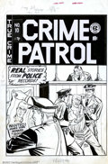 Original Comic Art:Covers, Johnny Craig - Original Cover Art for Crime Patrol #10 (EC, 1949).This is a fine example of a pre-trend cover by Craig who ...
