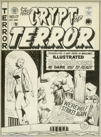 Johnny Craig - Original Cover Art for the Crypt of Terror #17 (EC, 1950). This is one of the most historic pieces of art...
