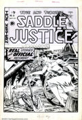 Original Comic Art:Covers, Graham Ingels - Original Cover Art for Saddle Justice #8 (EC,1949). One of the real sleeper pieces in the auction. Graham I...
