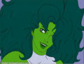 Original Comic Art:Paintings, Original Animation Art from The Incredible Hulk Cartoon - She-Hulk(New World Entertainment, 1996). As beautiful as the Hulk...