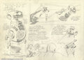 "Original Comic Art:Sketches, Jack Kirby - Original Character Designs for ""Z-Z-1-2-3"" (1978?). Jack Kirby was a veritable fountain of ideas, contributing ..."