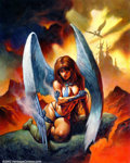 "Original Comic Art:Covers, Alex Horley - Original Art for Heavy Metal Magazine ""Fallen Angel""(2000). Easily one of the hottest young artists in the fa..."