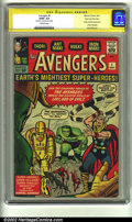 Silver Age (1956-1969):Superhero, The Avengers #1 Stan Lee File Copy (Marvel, 1963) CGC G/VG 3.0Off-white pages. Signature Series. Origin and first appearanc...