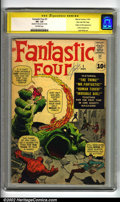 Silver Age (1956-1969):Superhero, Fantastic Four #1 Stan Lee File Copy (Marvel, 1961) CGC VG- 3.5 Off-white pages. Signature series. Origin and first appearan...