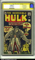 Silver Age (1956-1969):Superhero, The Incredible Hulk #1 Stan Lee File Copy (Marvel, 1962) CGC G/VG3.0 Off-white to white pages. Signature Series. The origin...