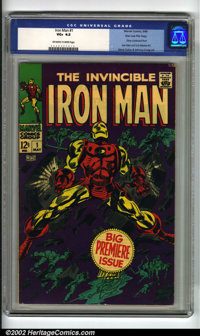 Iron Man #1 Stan Lee File Copy (Marvel, 1968) CGC VG+ 4.5 Off-white to white pages. The brilliant purple cover finally i...