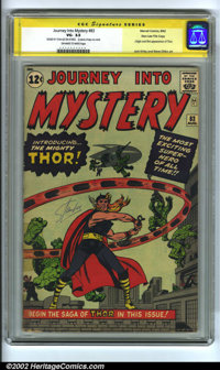Journey into Mystery #83 Stan Lee File Copy (Marvel, 1962) VG- 3.5 Off-white to white pages. Signature Series. Origin an...