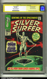 The Silver Surfer #1 Stan Lee File Copy (Marvel, 1968) CGC VG 4.0 Cream to off-white page. Signature Series. Stan Lee si...