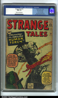 Strange Tales #101 Stan Lee File Copy (Atlas, 1962) CGC FR/GD 1.5 Cream to off-white pages. Human Torch begins by Jack K...