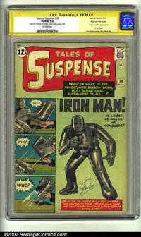 Tales of Suspense #39 Stan Lee File Copy (Marvel, 1963) CGC VG/FN 5.0 Off-white pages. Signature Series. The origin and...