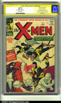 Silver Age (1956-1969):Superhero, X-Men #1 Stan Lee File Copy (Marvel, 1963) CGC FN+ 6.5 Off-whitepages. Signature Series. Here is one of the very nicest of...