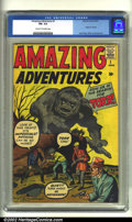 Silver Age (1956-1969):Superhero, Amazing Adventures #1 (Marvel, 1961) CGC FN- 5.5 Cream to off-whitepages. Trivia question time: which comic book contains t...