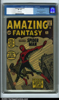 Silver Age (1956-1969):Superhero, Amazing Fantasy #15 (Marvel, 1962) CGC VF- 7.5 Off-white pages. Without question, this is the most sought-after comic book p...