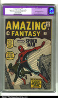 Silver Age (1956-1969):Superhero, Amazing Fantasy #15 (Marvel, 1962) CGC Apparent VF/NM 9.0 Moderate(P) Cream to off-white pages. All of the great elements a...