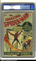 Silver Age (1956-1969):Superhero, The Amazing Spider-Man #1 (Marvel, 1963) CGC FN- 5.5 Off-whitepages. Spider-Man and the Fantastic Four star in this premier...