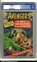 Silver Age (1956-1969):Superhero, The Avengers #3 (Marvel, 1964) CGC NM 9.4 Off-white to white pages.According to the CGC census, there have been only two co...