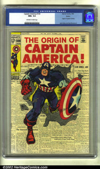 Captain America #109 Boston pedigree (Marvel, 1969) CGC NM+ 9.6 Off-white to white pages. The origin of Captain America...