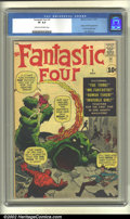 Silver Age (1956-1969):Superhero, Fantastic Four #1 (Marvel, 1961) CGC VF 8.0 Cream to off-white pages. This is the book that kicked off the glorious Marvel A...